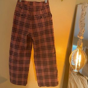 Lazy Oaf Jeans - Pink plaid pants!!!